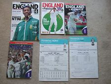 programme england v south africa 31/7 - 4/8/03 lords test