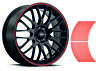 Decalcomanie per adesivi a strisce per auto o moto *3mm* Rosso Red