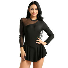 Adult Women's Long Sleeve Backless Ballet Dress Dance Wear Leotard Gym Costume