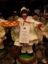 1 pulcinella vestito 13 CM TERRACOTTA FORTUNA corno pizza NAPOLI made italy