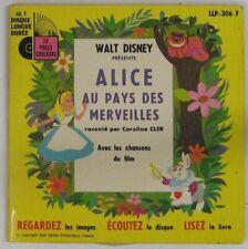 Alice au Pays des Merveilles 45 tours Walt Disney  Caroline Cler