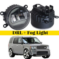 LED Daytime Running Lights Aluminum Cover Fog Lamp Fit For Land Rover Discovery4