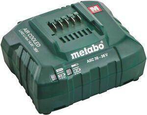 Metabo ASC 30-36 Air Cooled LiHD Li-Ion 14.4 - 36v Charger 240v 27044001