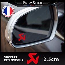 Kit 3 Stickers Retroviseur Voiture Akrapovic - Autocollant auto, retro ref3