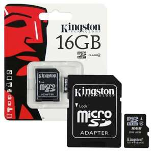 Kingston 16GB 16 GB Micro SD SDHC Class 4 Memory Card with adapter for Samsung