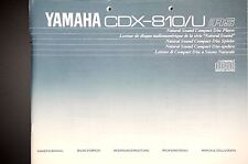 YAMAHA CDX-810/U Original CD Player Bedienungsanleitung/Owner`s/User Manual !
