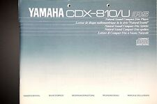 YAMAHA cdx-810/u originale CD player manuale d'uso/Owner's/user manual!