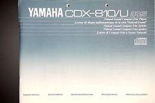YAMAHA CDX-810/U Original CD Player Bedienungsanleitung/Owner`s/User Manual !