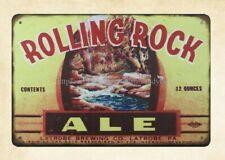 Rolling Rock Ale Liquor Shop Bar Cave metal tin sign country decor