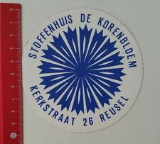 Aufkleber/Sticker: Stoffenhuis De Korenbloem Kerkstraat 26 Reusel (180217134)