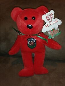 Bryn Bear of Wales National Flags House Vanguard Sampson Souvenirs Collectibles