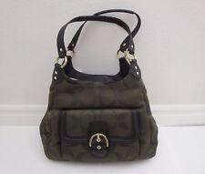 NWT Coach Campbell Moss Signature Metallic Hobo Shoulder Bag Handbag F26245