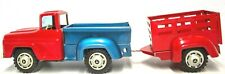 VINTAGE JAPANESE TIN FRICTION 1950'S DODGE PICK UP WITH HORSE TRAILER