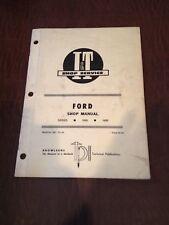 FORD I&T TRACTOR SHOP SERVICE REPAIR MANUAL BOOK 1000 1600