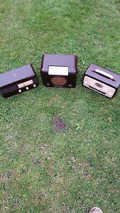 3 Vintage Radios Bakelite Pye Bush Ultra spares or repair