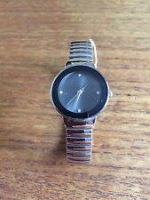 Damas SS Reloj Con Cara & flexie Banda Gris W147p
