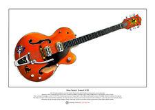 Brian Setzer's 6120 guitar Ltd Edition Fine Art Print A3 size