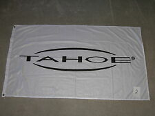 Tahoe Runabout Ski Boat Polyester Flag 34 x 56 Blk White Banner Patio Dock Cave