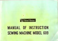 New Home model 609 Sewing Machine CD Instruction Manual.