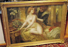 WEDDING NIGHT NUDE  RARE 19TH C FINE & LARGE   PAINTING BY.EDUARD . A.HOFFMANN