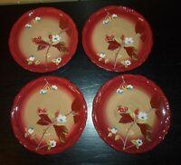 "(4) Tracy Porter HENNA 8"" Salad Plates"
