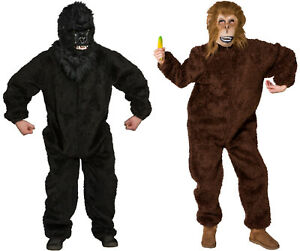 Affe Gorilla Kostüm Maske Affenmaske Affenkostüm Gorillamaske Gorillakostüm