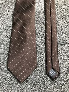"""Next brown dotted polyester smart classic tie 3.25"""" wide 57"""" long"""