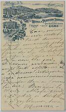 CARTOLINA d'Epoca - COMO Città : HOTEL PENSION SUISSE 1894