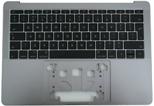 """More details for new apple macbook pro 13"""" a1708 2016 2017 palmrest cover space grey uk keyboard"""