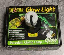 "New listing Exo-Terra Glow Light Porcelain Clamp Lamp Small 100 Watt 5.5"" Diameter"