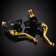 MZS Clutch Brake Levers Cable Perch Hydraulic Reservoir Kit For GSXR600 GSXR750