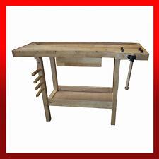 WNS Wooden Workbench Desk / Garage Workshop Craft Hobby Joiner Carpentry