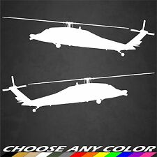 2 US Army UH-60 Blackhawk Helicopter Side Stickers Military Graphics Decal Car