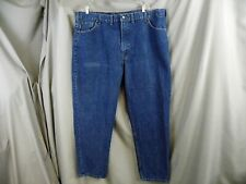 CARHARTT Relaxed Fit Tapered Leg Denim Blue Jeans B17 DST Men's 46x30 - Big Tall