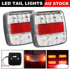 2x LED Tail Lights 12V Brake Reverse 26LED Trailer Truck UTE Caravan Boat Light