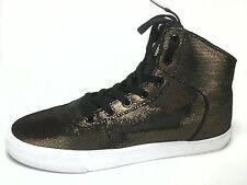 SUPRA Bronze Gold Black Metallic Womens Sneakers Shoes SAMPLE US 9 EU 40.5