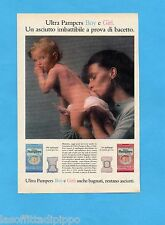 TOP989-PUBBLICITA'/ADVERTISING-1989- PAMPERS - ULTRA PAMPERS BOY E GIRL