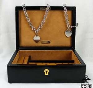 Starter Tiffany & Co. Kit: Sterling Heart Tag Chain Bracelet, Necklace w/ Box