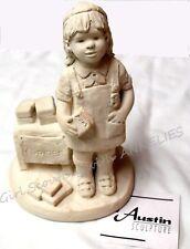 NEW Statue BROWNIE Girl Scout Selling Cookies DEE CROWLEY Austin Sculptures GIFT