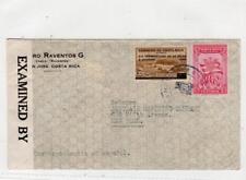 COSTA RICA: 1942 Censored cover to USA (C36431)