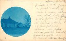 POSTMARKED LINCOLN, NEBRASKA, RPPC, CYANOTYPE, 1908, VINTAGE POSTCARD