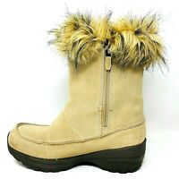 Sorel Northern Lite Tall Tan Faux Fur Winter Womens Boots Thinsulate Size 8