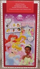 Disney Princess Valentine Cards, Stickers & Poster - New in Box