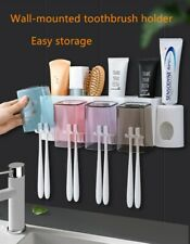 Wall-mounted Toothbrush Rack Bathroom Punch-free Mouthwash Cup Wash Set