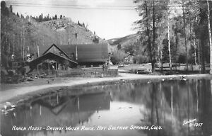 H65/ Hot Sulpher Springs Colorado RPPC Postcard c40s Drowsy Water Ranch 69