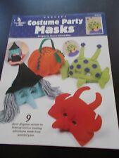 Costume Party Masks Crochet Leaflet Annie's Attic 872319 - 9 Masks