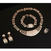 Wedding Jewelry Set African Gold-color jewel pendant Necklace women earrings BR