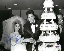 Priscilla Presley w/ Elvis Signed Authentic Autographed 8x10 Photo PSA/DNA #3