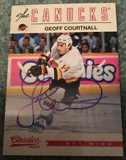 2012-13 Panini Classics Signatures Autograph Geoff Courtnall Vancouver Canucks
