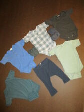 Kate Quinn Baby Boy Lot of 8 One Pieces, Pants and Booties 3-6 months
